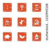 refinance icons set. grunge set ... | Shutterstock .eps vector #1210945108