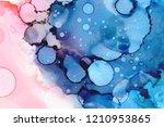 hand painted ink texture.... | Shutterstock . vector #1210953865