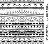 doodle pattern. decorative... | Shutterstock .eps vector #1210955062