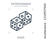 dices icon. high quality line... | Shutterstock .eps vector #1210957045