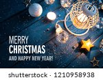christmas festive decoration... | Shutterstock . vector #1210958938