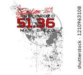 stylish trendy slogan tee t... | Shutterstock .eps vector #1210963108