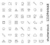 Big Set Of Kitchen Set Icons...