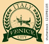 venice  italy isolated postage... | Shutterstock .eps vector #1210981105