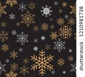 seamless christmas gift... | Shutterstock .eps vector #1210981738