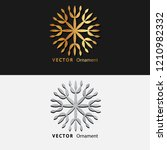vector illustration mandala.... | Shutterstock .eps vector #1210982332