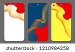 set fashionable abstract... | Shutterstock .eps vector #1210984258