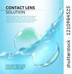 lens solution ads  clear liquid ... | Shutterstock .eps vector #1210984525