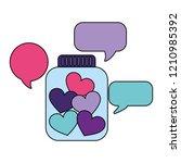 volunteers help work | Shutterstock .eps vector #1210985392