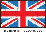 grunge uk flag.old dirty... | Shutterstock .eps vector #1210987318
