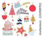 christmas  new year design... | Shutterstock .eps vector #1210989952