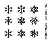 Snowflake Winter Set Of Black...