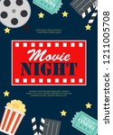 abstract movie night cinema... | Shutterstock .eps vector #1211005708