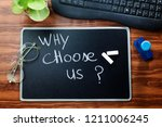 why choose us   question... | Shutterstock . vector #1211006245