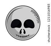 halloween scary cartoon | Shutterstock .eps vector #1211016985