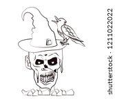 halloween scary cartoons | Shutterstock .eps vector #1211022022