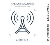 antenna icon. high quality line ... | Shutterstock .eps vector #1211029582