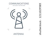 antenna icon. high quality line ... | Shutterstock .eps vector #1211029585