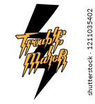 trouble maker. vector... | Shutterstock .eps vector #1211035402