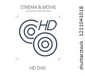 hd dvd icon. high quality line... | Shutterstock .eps vector #1211041018