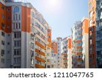 view of bright residential... | Shutterstock . vector #1211047765