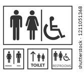 public toilet signs | Shutterstock .eps vector #1211051368