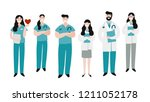 medical people profession... | Shutterstock .eps vector #1211052178