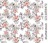 vintage falower  backgrounds... | Shutterstock . vector #1211055472