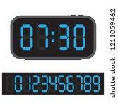 digital alarm clock  blue... | Shutterstock .eps vector #1211059462