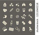medicine icon set. vector   Shutterstock .eps vector #1211060218