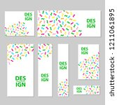 web banners set with colorful... | Shutterstock .eps vector #1211061895