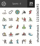 sports filled line icons | Shutterstock .eps vector #1211063692