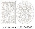 a set of contour illustrations... | Shutterstock .eps vector #1211063908