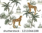 beautiful tropical vintage... | Shutterstock .eps vector #1211066188