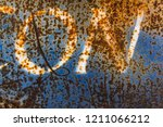 word on over blue texture of... | Shutterstock . vector #1211066212