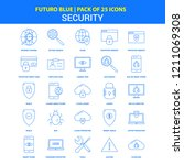 security icons   futuro blue 25 ... | Shutterstock .eps vector #1211069308