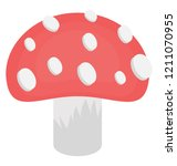 an edible fungus plant called... | Shutterstock .eps vector #1211070955