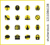 mixed icons set with lightbulb  ...