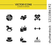 lifestyle icons set with... | Shutterstock .eps vector #1211086192