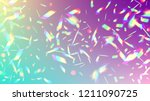 holographic light glitch effect....   Shutterstock .eps vector #1211090725