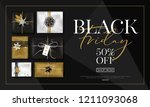 vector black friday sale banner ... | Shutterstock .eps vector #1211093068