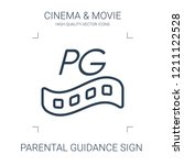 parental guidance sign icon.... | Shutterstock .eps vector #1211122528