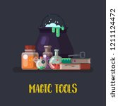 magic or witch items for... | Shutterstock .eps vector #1211124472