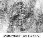 monochrome abstract fractal... | Shutterstock . vector #1211126272