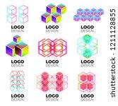vector logo design elements set ... | Shutterstock .eps vector #1211128855