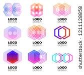 vector logo design elements set ... | Shutterstock .eps vector #1211128858