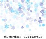 blue paper snowflakes flying...   Shutterstock .eps vector #1211139628