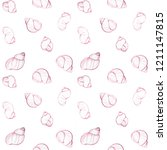 seamless pattern wiht shells... | Shutterstock . vector #1211147815