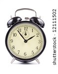 old fashioned black alarm clock ... | Shutterstock . vector #12111502