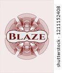 red rosette or money style... | Shutterstock .eps vector #1211152408